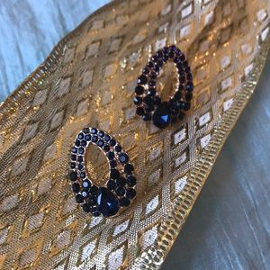 Jewelry - Blue crystal strass earrings